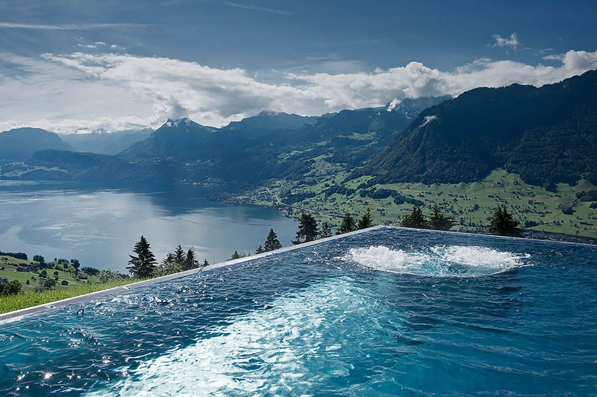 Best Hotel In Switzerland With Infinity Pool The 10 Best Hotel Pools In The World Hotel Villa Honegg Villa Honegg Hotel Pool