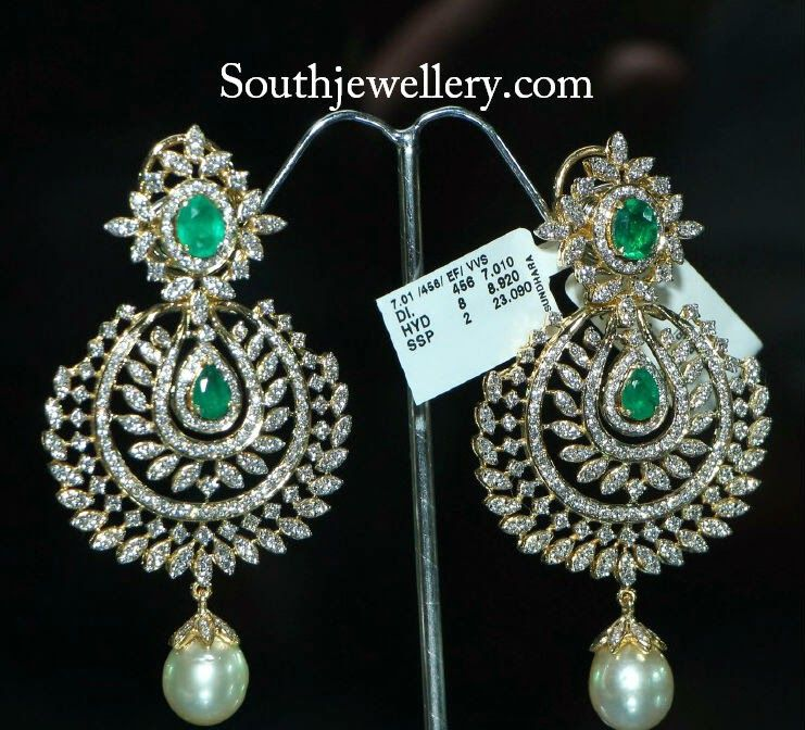 diamond earrings | Southjewellery.com - Latest Indian Jewellery ...