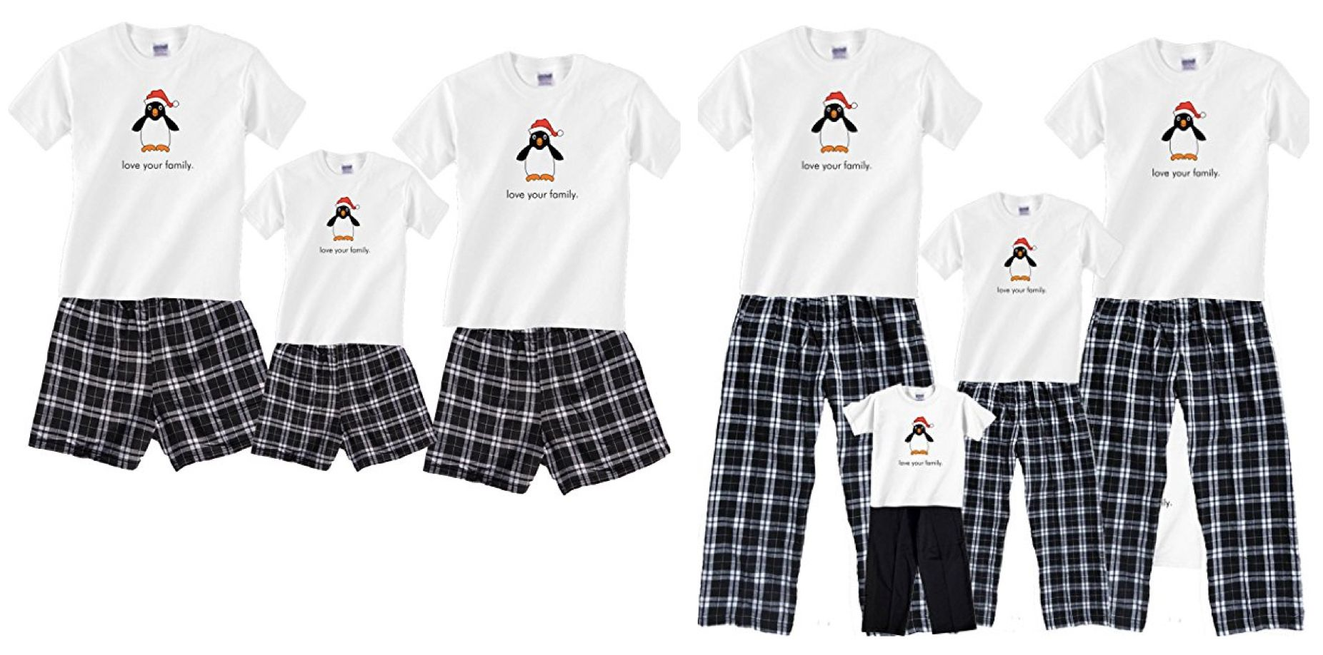 95499d19af59 Matching Family Penguin Boxer Short Holiday Pajamas