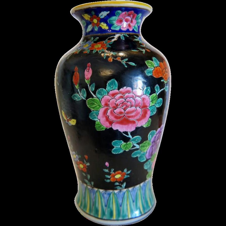 Vintage japanese pottery vase ca 1930 ruby lane japanese vintage japanese pottery vase ca 1930 reviewsmspy