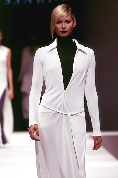 Valeria Mazza - Trussardi Ready-To-Wear Spring/Summer 1996.