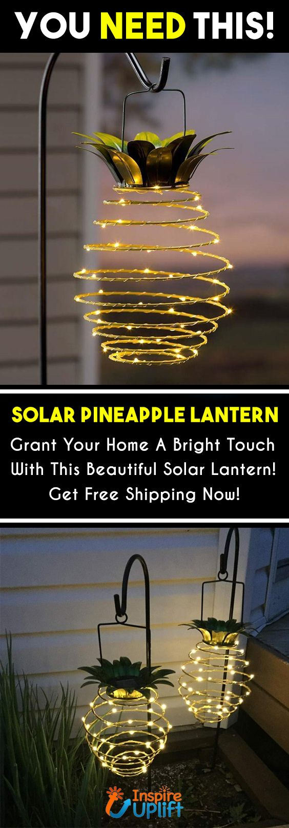 Solar Pineapple Lantern 😍