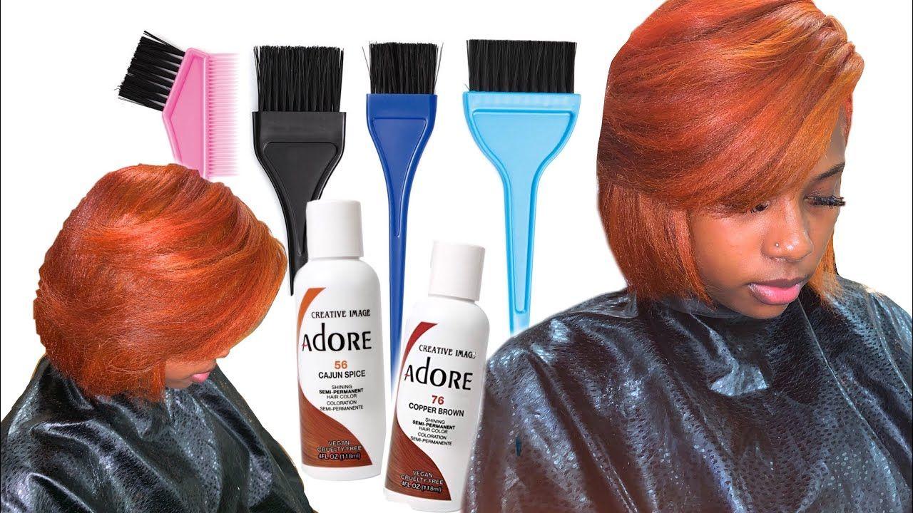 Coloring Natural Hair Adore Mix Copper Brown Cajun Spice Youtube Natural Hair Styles Copper Brown Hair Dyed Natural Hair