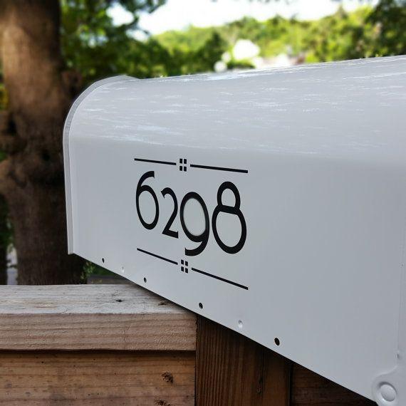 Craftsman Mailbox Numbers 2 Sets Arts Crafts Custom Mailbox Numbers Craftsman Mailboxes Mailbox Numbers Custom Mailboxes