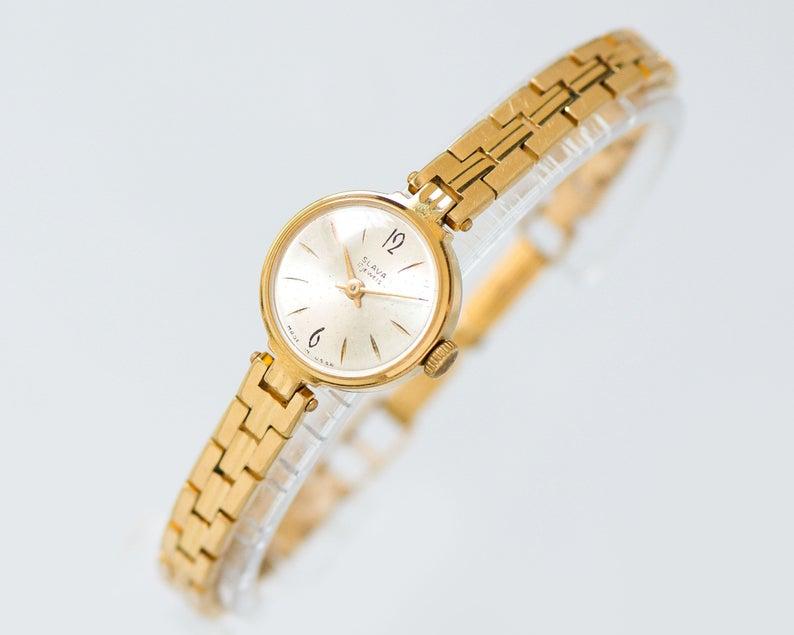 Women S Watch Bracelet Glory Lady Wristwatch Gold Plated Etsy Women Watches Gift Women Wrist Watch Gold Watches Women