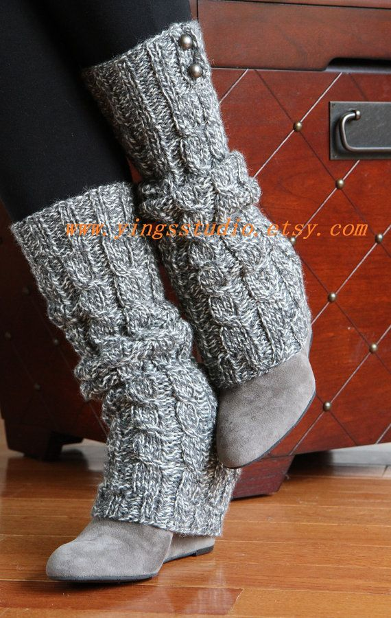 Leg Warmers - Boot cuffs - Woman Leg Warmers - Cable Knitted - Hand ...