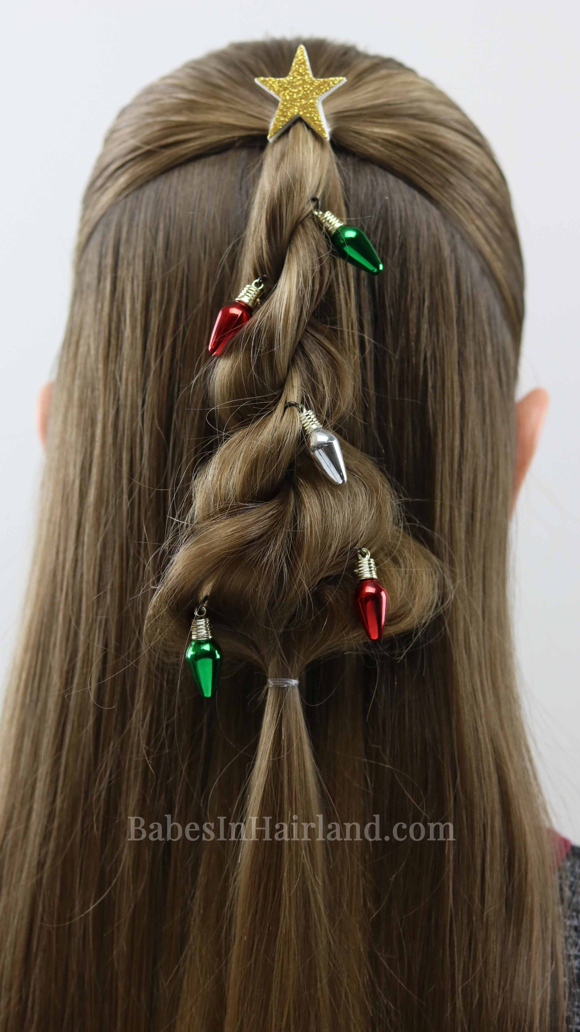 Decorate your hair for christmas too with this cute twisted