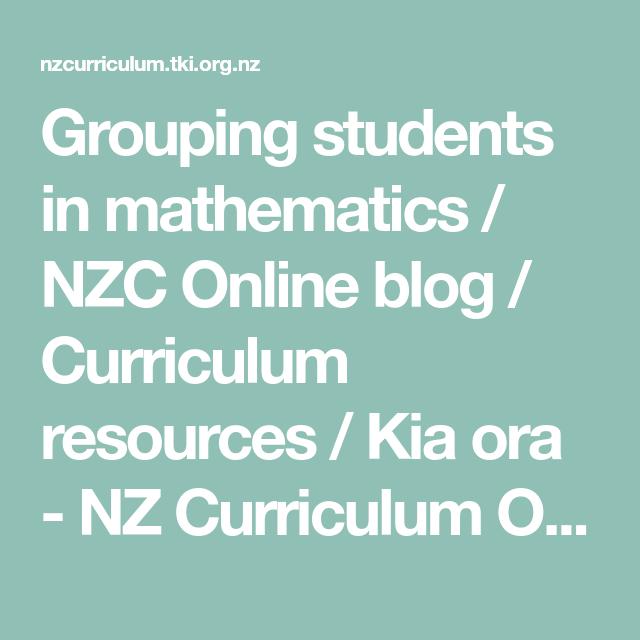 Grouping Students In Mathematics Nzc Online Blog Curriculum