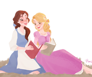 Imagine rapunzel, belle, and disney