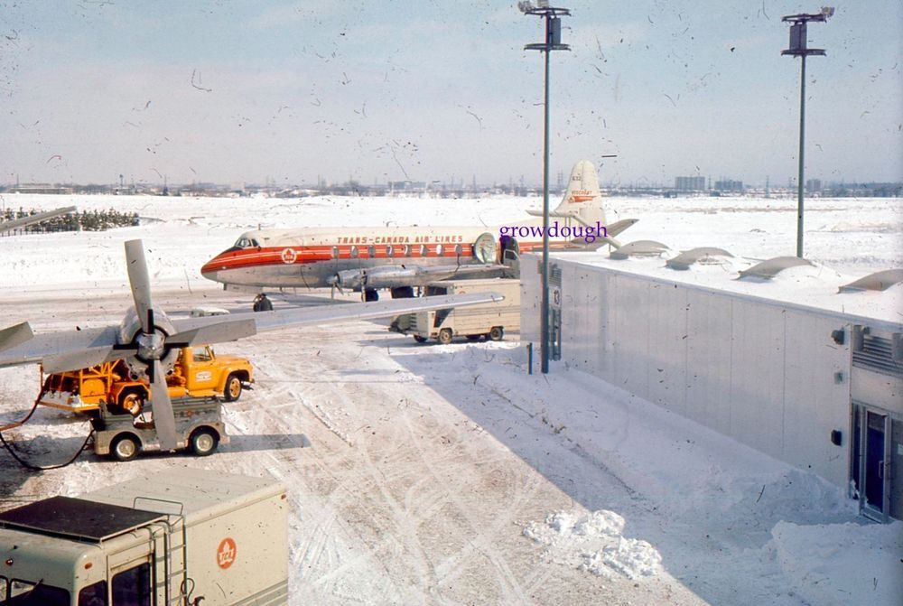 35mm Slide Trans Canada Airlines Airplane Tca Air Winter