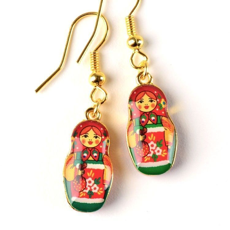 Metallic Matryoshka Doll Earrings 6 99 These Fun Simple Hook Are About 1