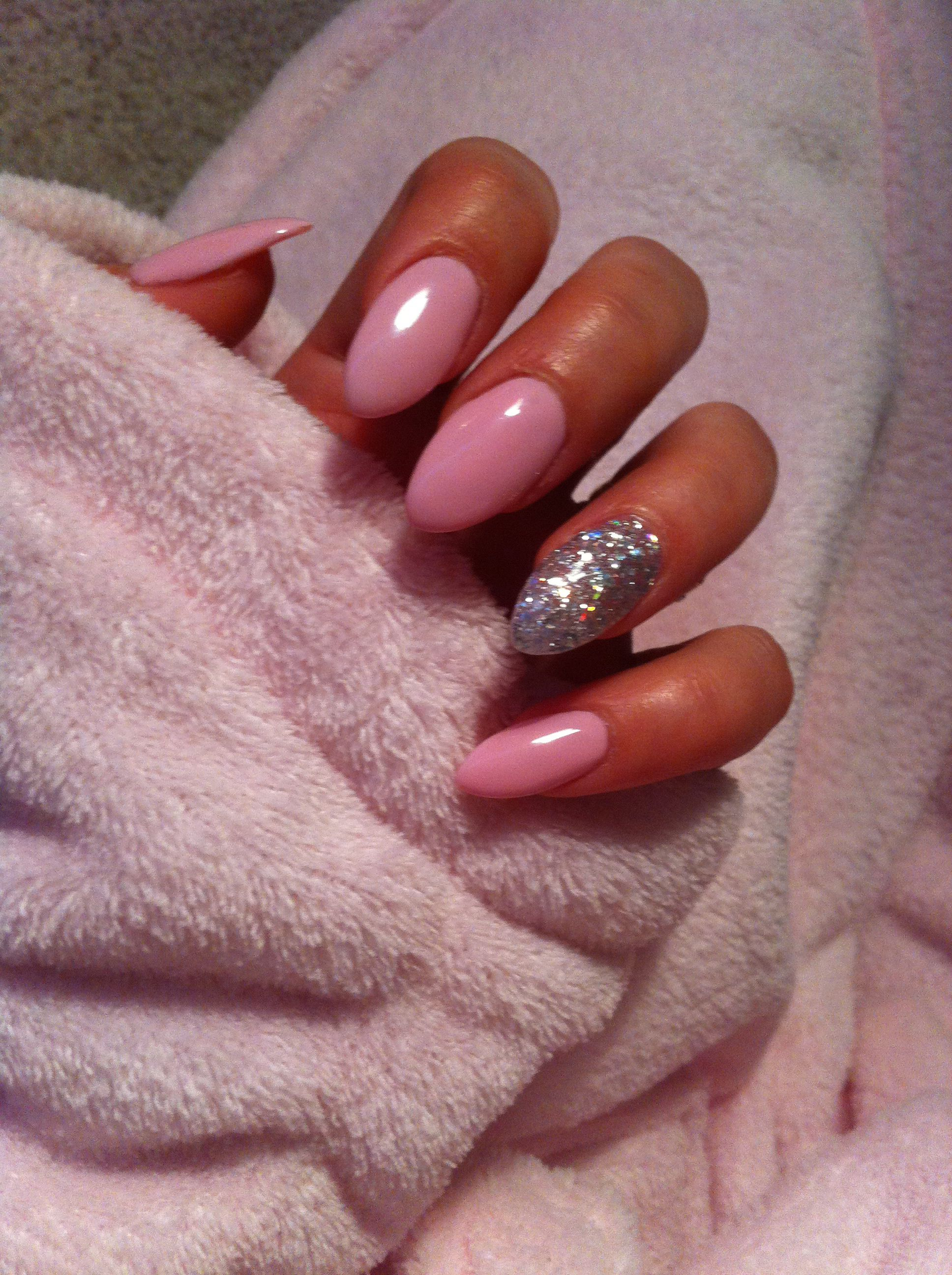#nails #cute #pink #sparkles