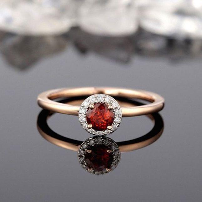 20 non traditional garnet engagement rings that are gorgeous - Garnet Wedding Rings