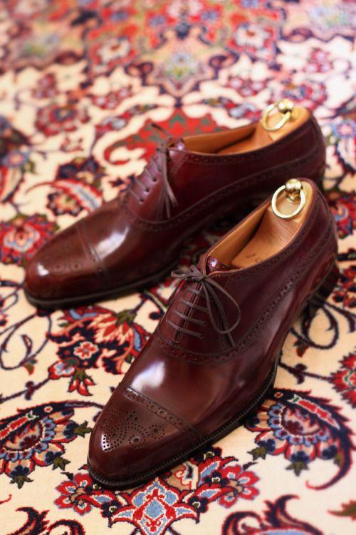 http://chicerman.com  theshoesrealist:  il QuadrifoglioBespoke Balmoral Shoes  #menshoes