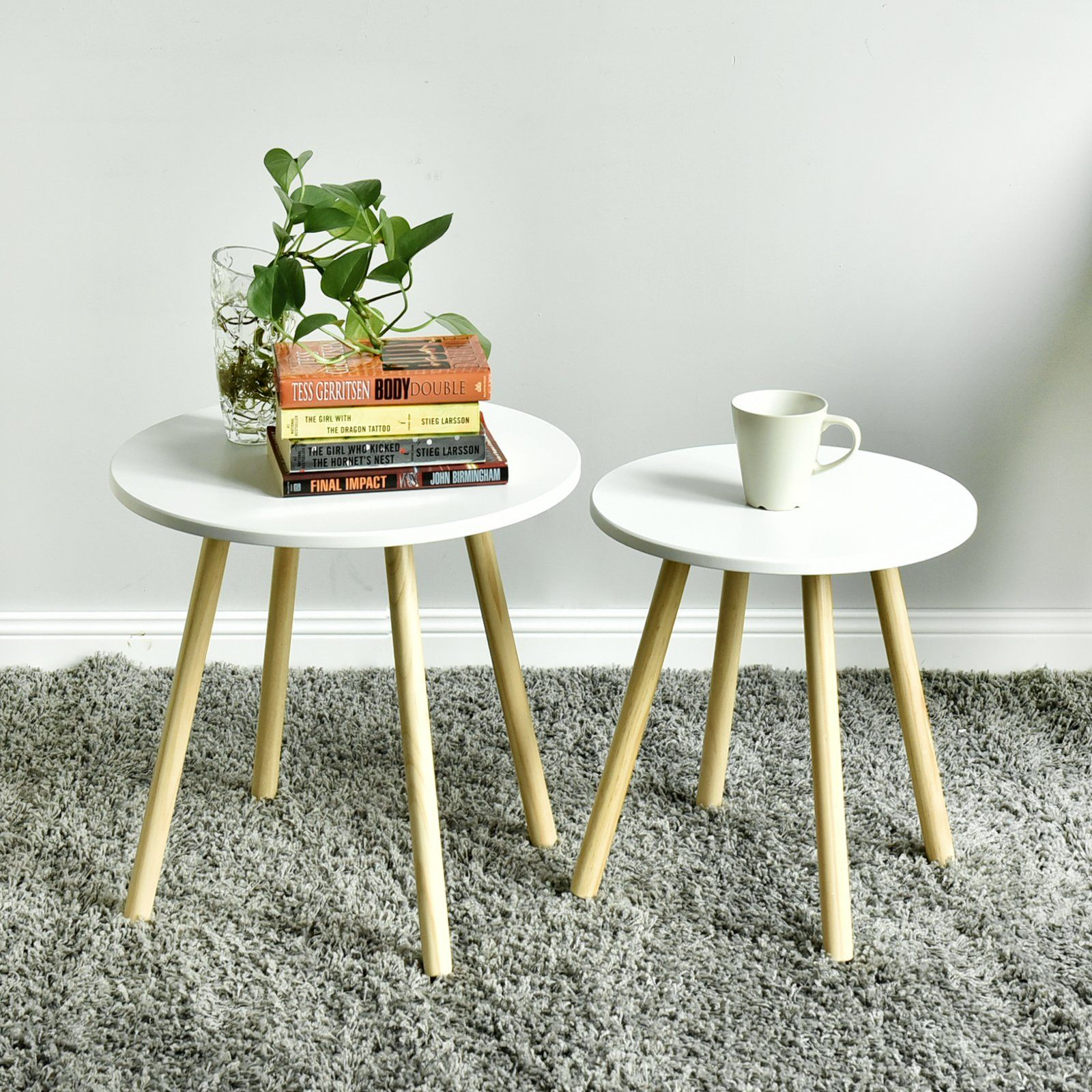 Welland Wood End Table Modern Round Coffee Table Environmentally Friendly Living Room Side Table Round Coffee Table Modern Coffee Table Living Room Side Table [ 1600 x 1600 Pixel ]