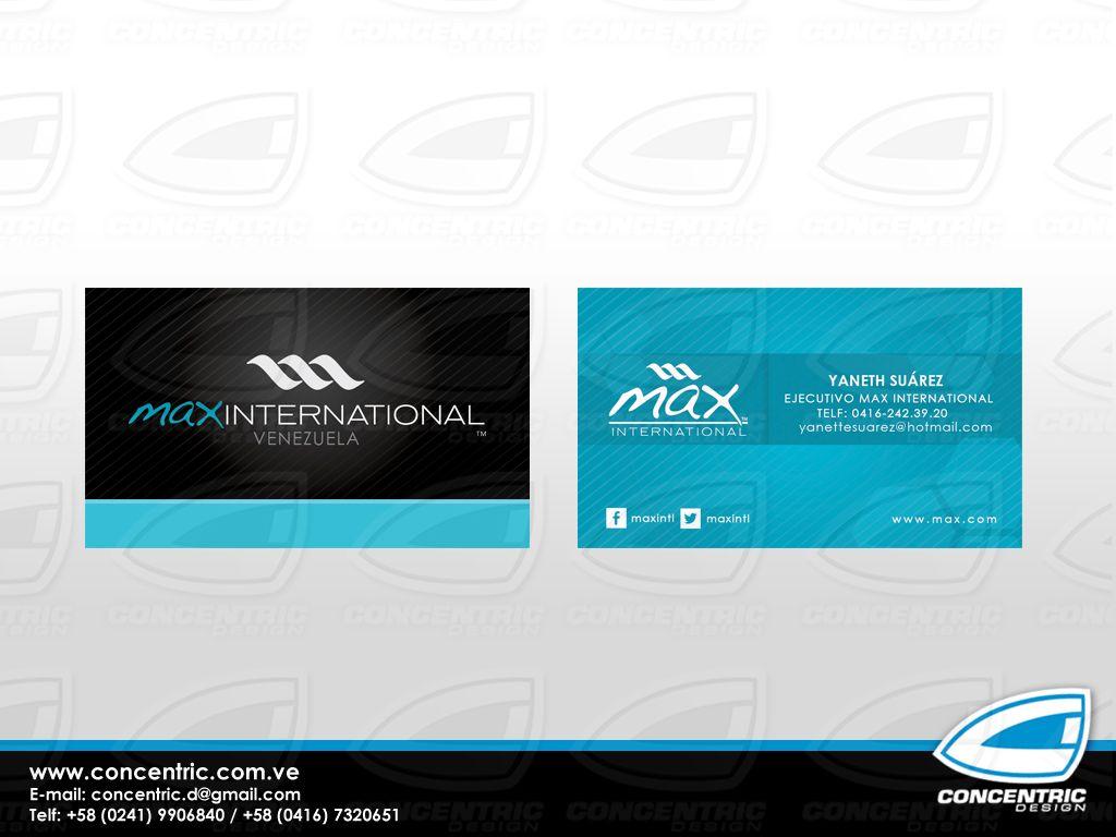 Tarjeta de Presentación - Max International   Tarjetas de ...