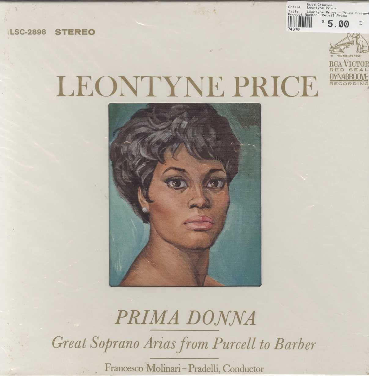 Leontyne Price - Prima Donna-Great Soprano Arias From Purcell To Barber