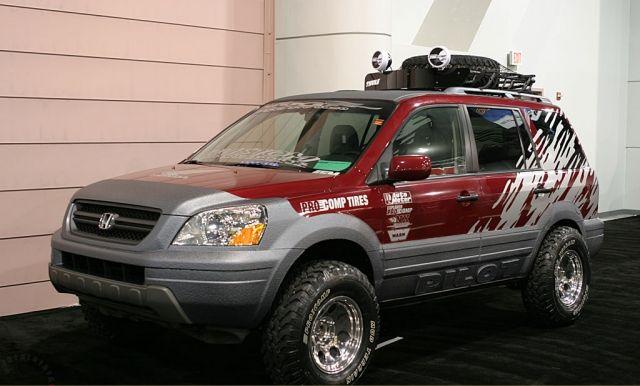 22772d1102045237 Raised Pilots Lift Kits Sema Pilot Jpg 640 386 Pixels Honda Pilot Honda Honda Crv