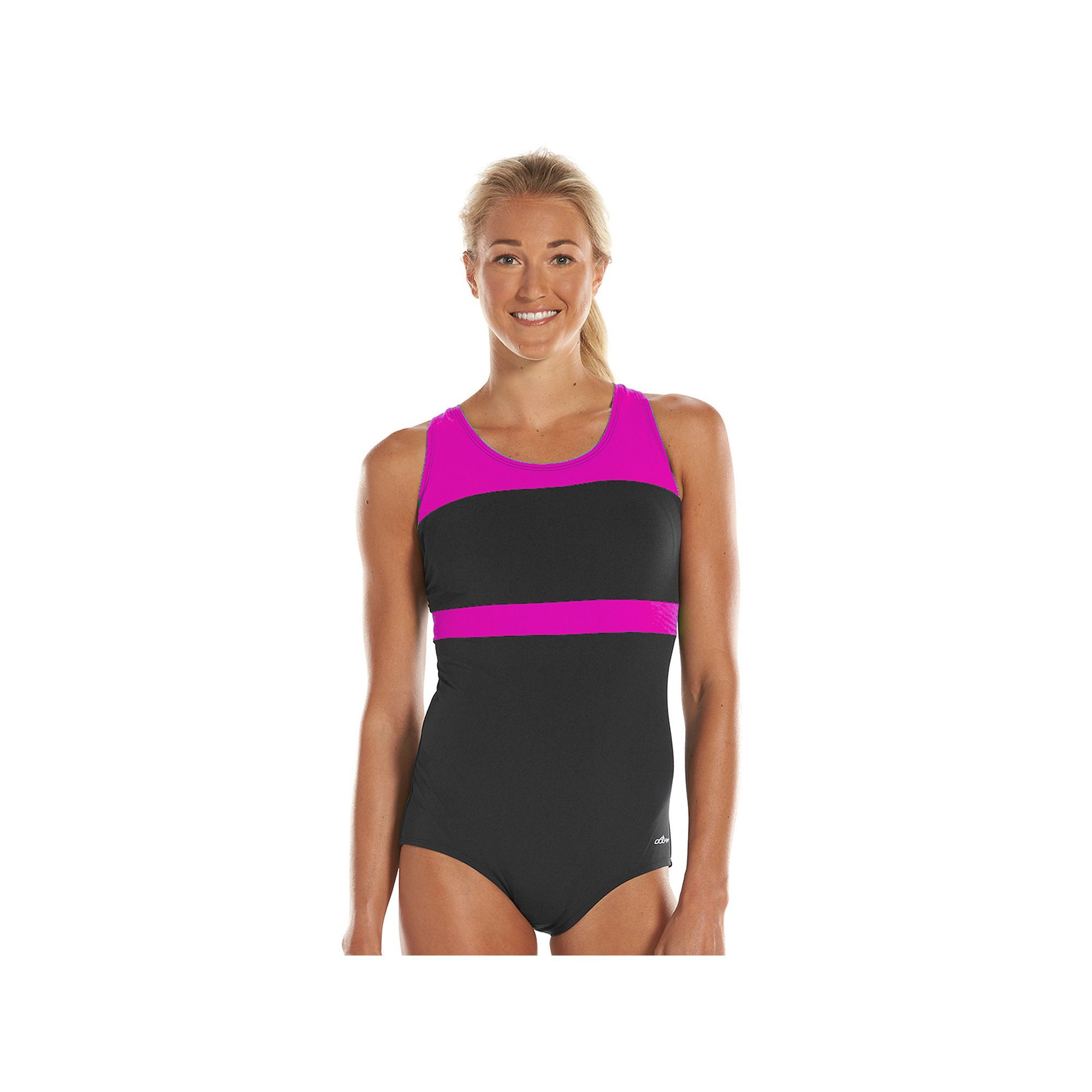 095c1d5100c Women's Dolfin Aquashape Conservative Colorblock One-Piece Lap Swimsuit,  Size: 10 Comp, Pink