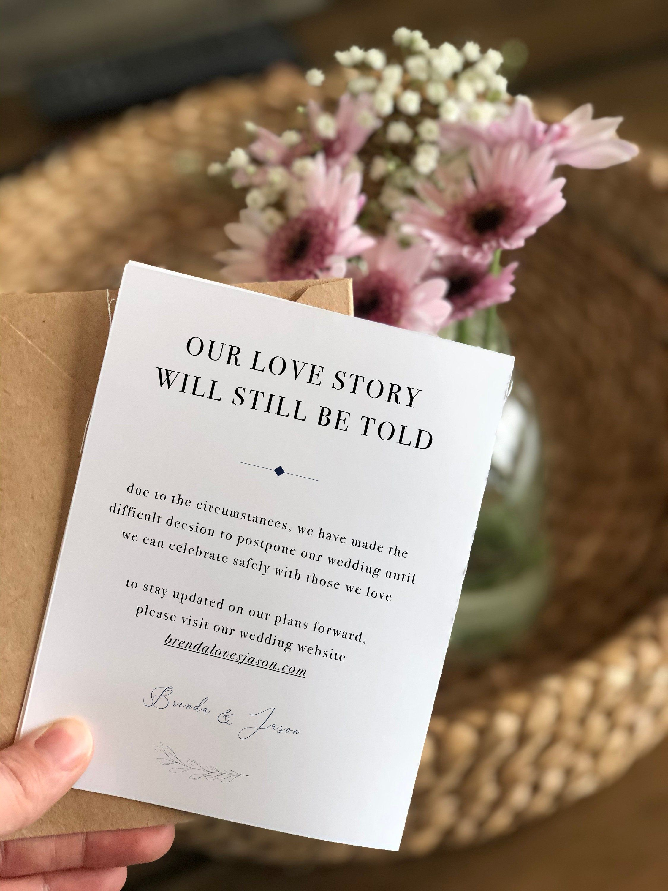 Wedding Date Change Our Love Story Will Still Be Told