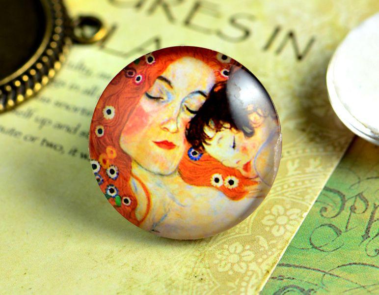 2 stuks Handgemaakte 25mm Glas Cabochon  van purestyle  op DaWanda.com