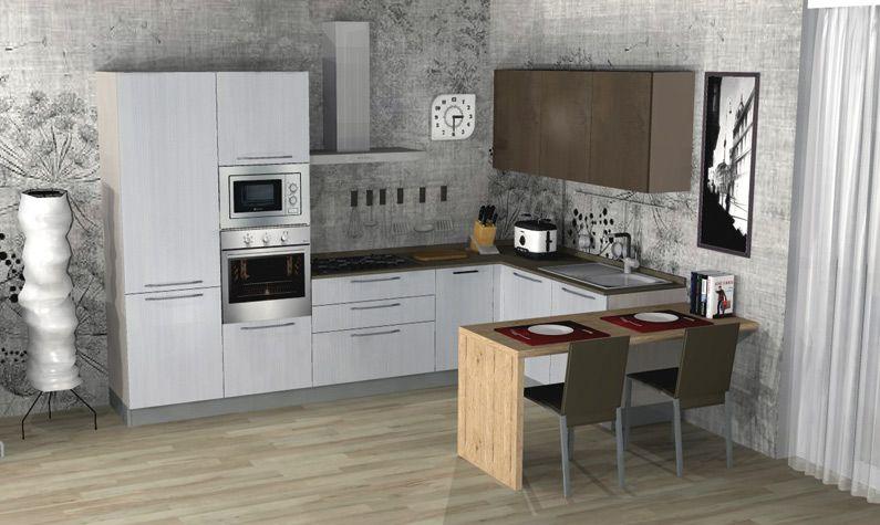 Cucina Moderna Con Lavastoviglie.Cucina Moderna Tablet Inclusi Elettrodomestici Electrolux