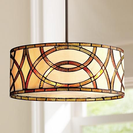 Art Gl Circles 20 W Tiffany Style Pendant Chandelier
