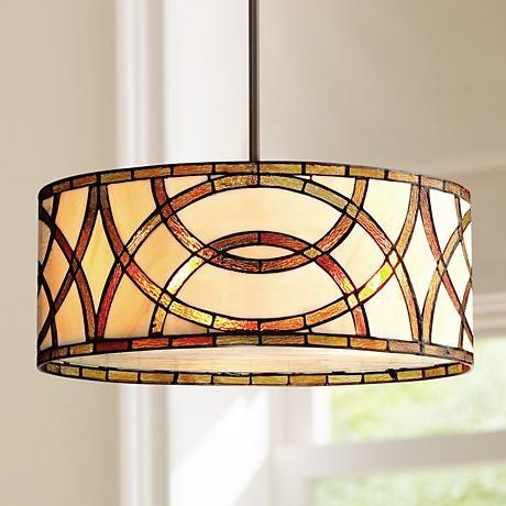 Art Glass Circles 20 W Tiffany Style Pendant Chandelier T7263