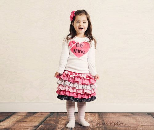girls valentines day outfit valentines ruffle skirt boutique valentines outfit toddler valentines outfit - Girls Valentine Outfits