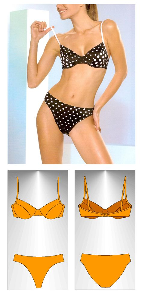 Bikini sewing pattern Fidji - Patrón de bikini Fidji | Clothes ...