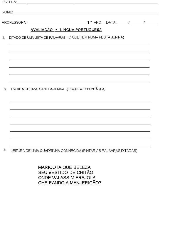 Pin Em Avaliacao Diagnostica 1 Ano