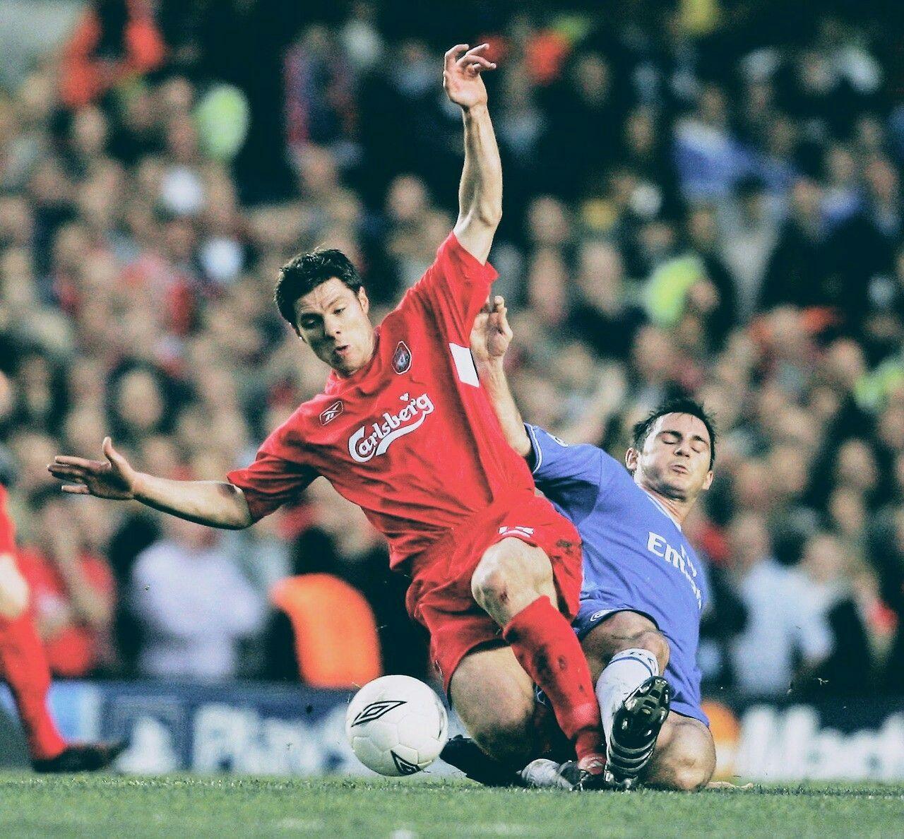 2005 Sampiyonlar Ligi Yari Finali Chelsea Liverpool Lampard Xavi Alonso Sports Football Players