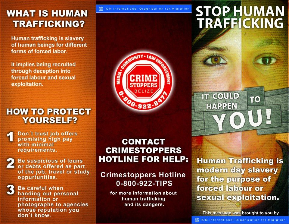 IOM HUMAN TRAFFICKING CAMPAIGN BROCHURE Outside If You Are