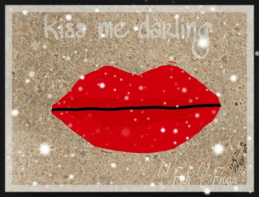 """""""Kiss Me Darling."""" /mixed media by  FabFiona"""