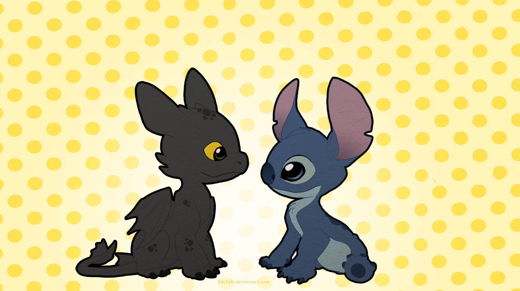Stitch And Toothless By Kitchiki.deviantart.com On