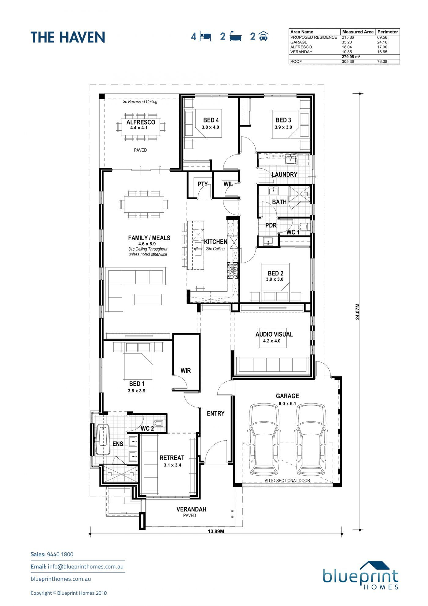 The Haven Perth Ex Display Home Blueprint Homes House Blueprints Architectural House Plans Display Homes