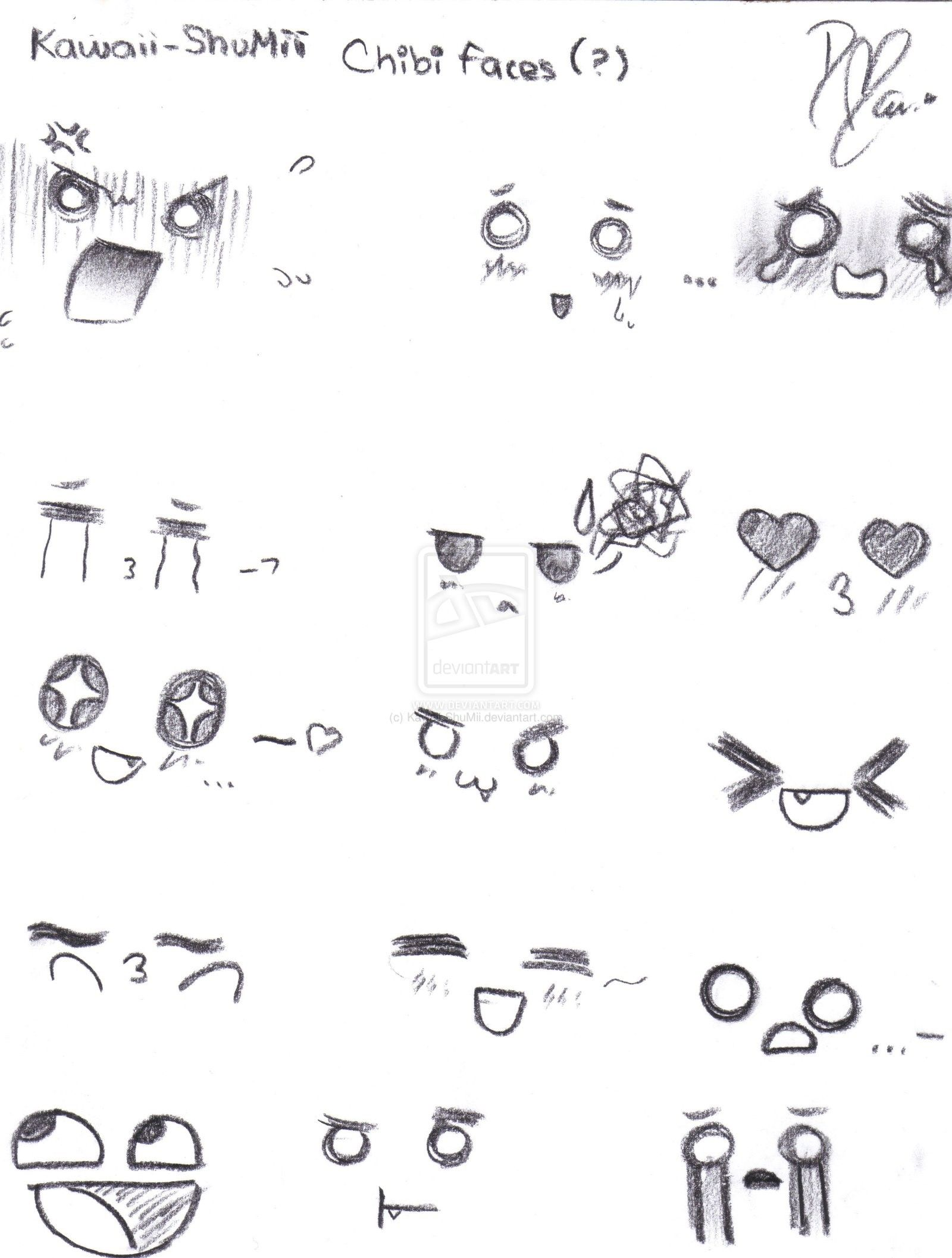 Face Reference Cute How To Draw Anime Faces Drawing