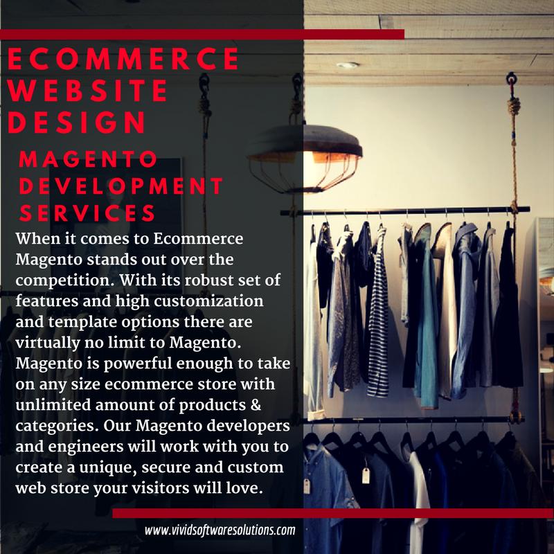Magento Development Services Visit https://www.vividsoftwaresolutions.com/ecommerce-website-d…/ #Magento #eCommerceWebDesign #SanDiegoWebDevelopment