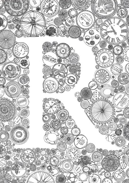 Quot R Quot By Kate Bragan Zentangles Doodles And Tangled
