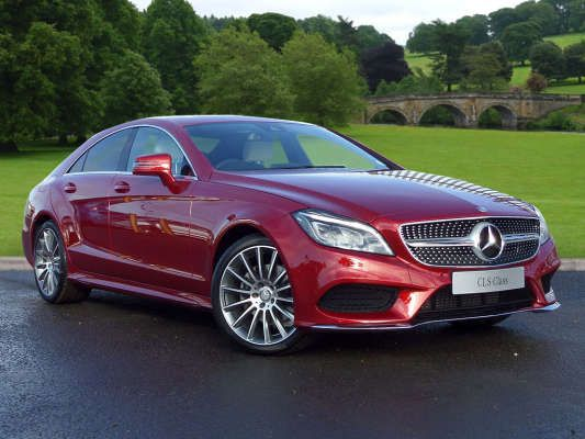 Used 2015 15 Reg Designo Hyacinth Red Metallic Mercedes Benz Cls