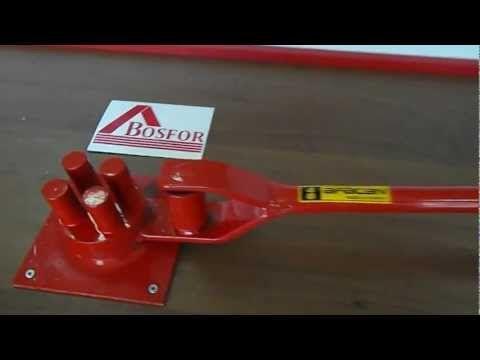 Ручной станок для гибки арматуры AFACAN Турция 4B - YouTube