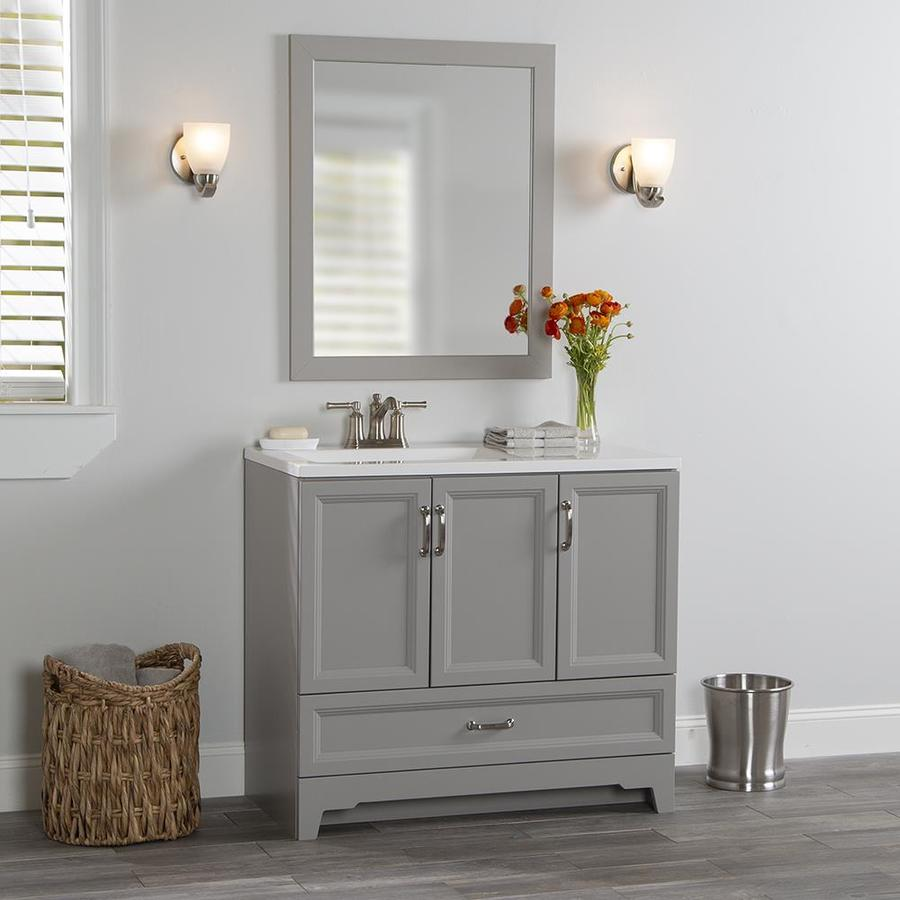 Style Selections 36 25 In Smoky Gray Single Sink Bathroom Vanity