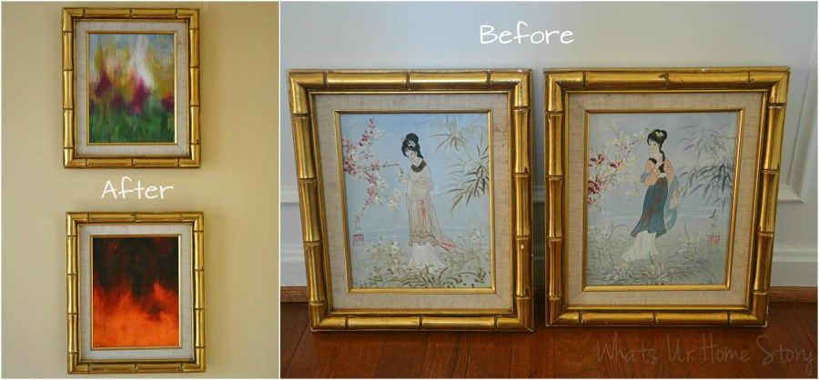 Art On The Wall Reuse Vintage Frames Whats Ur Home Story Frame Bamboo Picture Frames Bamboo Frame