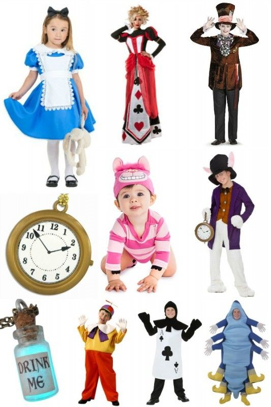 Alice in Wonderland Costumes for the Whole Family @Remodelaholic - halloween group costume ideas for work