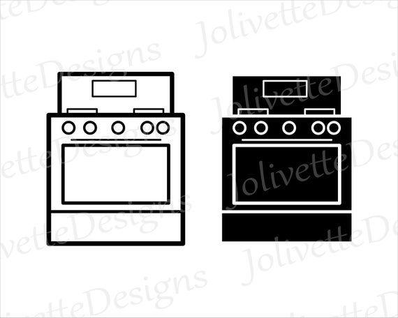 Stove Oven Kitchen Appliance Cooking Chef Clip Art Etsy Clip Art Dollhouse Books Appliances