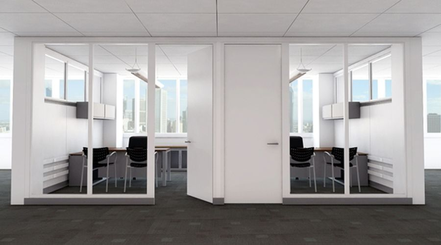 contemporary private office partition design of infive by