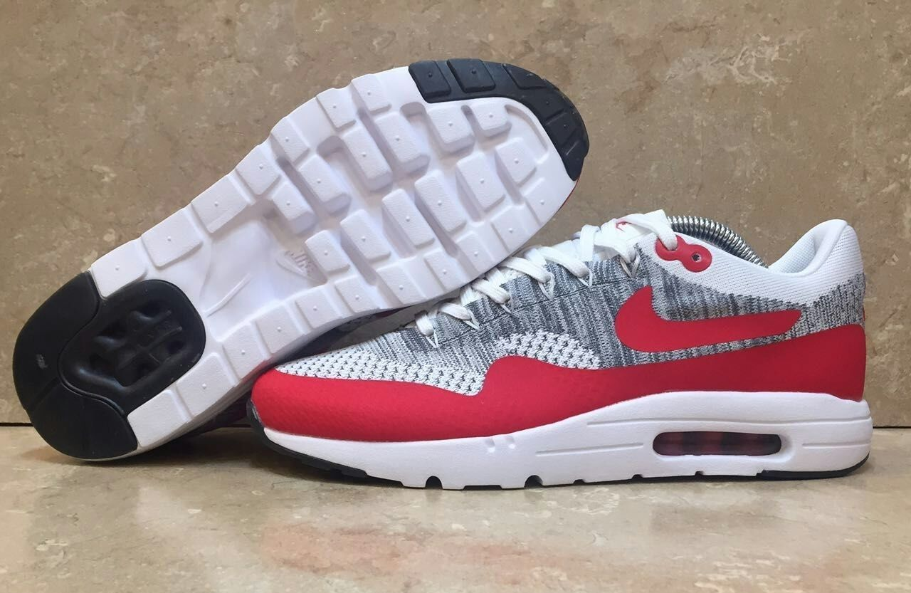 hot sale online 24cde b958b Nike Air Max 1 Ultra Flyknit White Red Pure