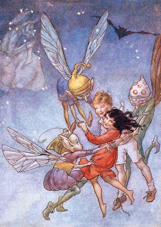 Flying With the Fairies | Children and Fairies Art Prints ...
