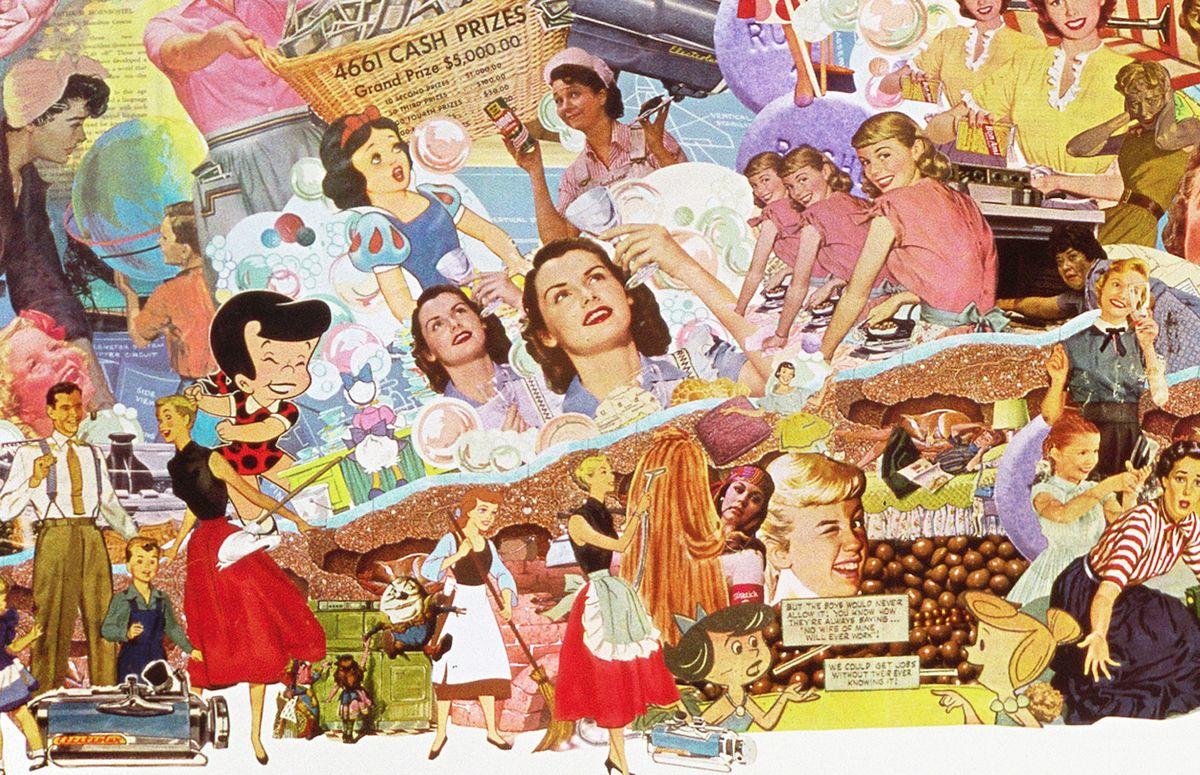 1950s pop culture collage 2014 sally edelstein pop