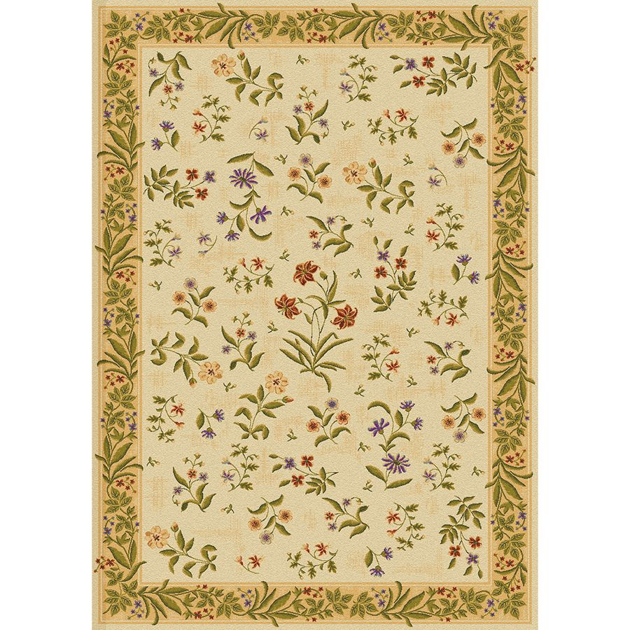 Shop Mohawk Home Summer Flowers Rectangular Cream Floral Tufted Area Rug Common 8 Ft X 11 Ft Actual 7 Ft 9 In X 10 Ft 11 In At Mohawk Home Rugs Area Rugs